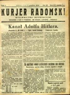 Kurier Radomski, 1939, R. 1, nr 25