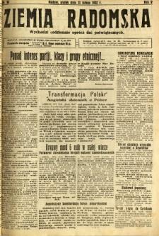 Ziemia Radomska, 1932, R. 5, nr 34