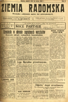 Ziemia Radomska, 1932, R. 5, nr 37