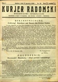 Kurier Radomski, 1939, R. 1, nr 26