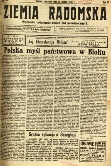 Ziemia Radomska, 1932, R. 5, nr 45