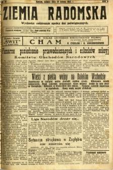 Ziemia Radomska, 1932, R. 5, nr 47