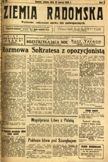 Ziemia Radomska, 1932, R. 5, nr 59