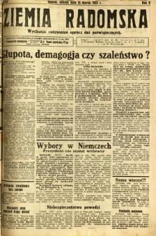 Ziemia Radomska, 1932, R. 5, nr 61