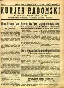 Kurier Radomski, 1939, R. 1, nr 28