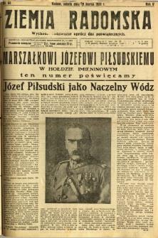Ziemia Radomska, 1932, R. 5, nr 65