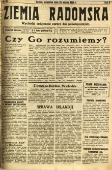 Ziemia Radomska, 1932, R. 5, nr 69