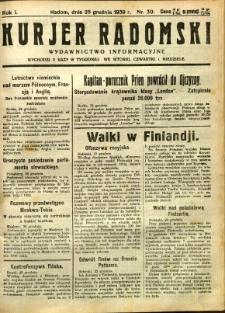 Kurier Radomski, 1939, R. 1, nr 30