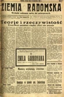 Ziemia Radomska, 1932, R. 5, nr 84