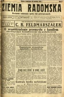 Ziemia Radomska, 1932, R. 5, nr 90