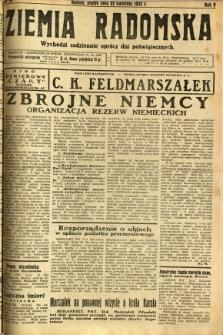 Ziemia Radomska, 1932, R. 5, nr 92