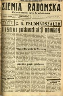 Ziemia Radomska, 1932, R. 5, nr 93