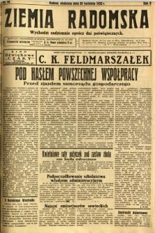Ziemia Radomska, 1932, R. 5, nr 94