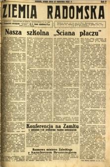 Ziemia Radomska, 1932, R. 5, nr 96
