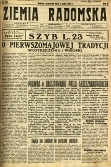 Ziemia Radomska, 1932, R. 5, nr 102