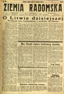 Ziemia Radomska, 1932, R. 5, nr 136