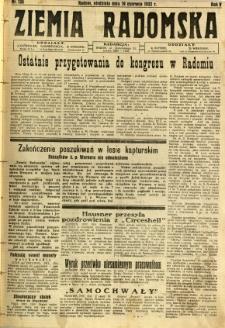 Ziemia Radomska, 1932, R. 5, nr 138