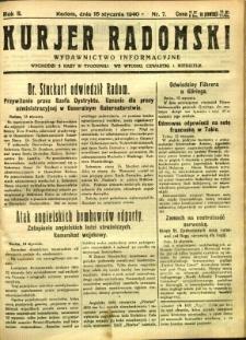 Kurier Radomski, 1940, R. 2, nr 7