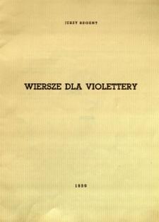 Wiersze dla Violettery