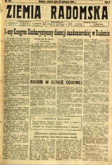 Ziemia Radomska, 1932, R. 5, nr 145