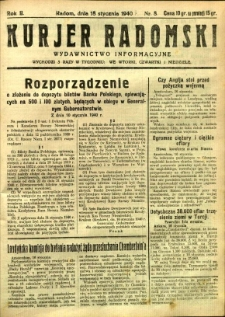 Kurier Radomski, 1940, R. 2, nr 8