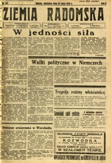 Ziemia Radomska, 1932, R. 5, nr 167