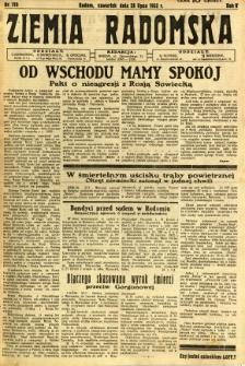 Ziemia Radomska, 1932, R. 5, nr 170