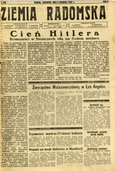 Ziemia Radomska, 1932, R. 5, nr 176