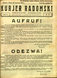 Kurier Radomski, 1940, R. 2, nr 11