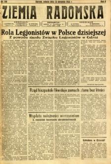 Ziemia Radomska, 1932, R. 5, nr 184