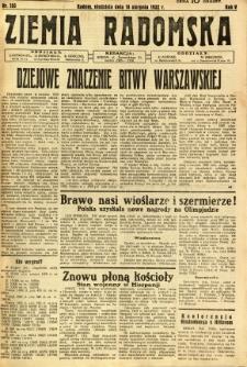 Ziemia Radomska, 1932, R. 5, nr 185
