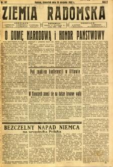 Ziemia Radomska, 1932, R. 5, nr 187