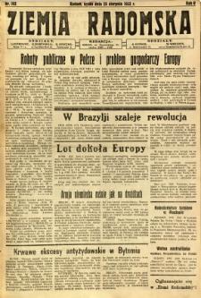 Ziemia Radomska, 1932, R. 5, nr 192