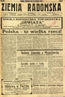 Ziemia Radomska, 1932, R. 5, nr 196