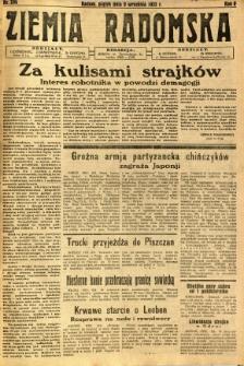 Ziemia Radomska, 1932, R. 5, nr 206