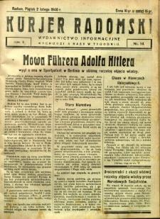 Kurier Radomski, 1940, R. 2, nr 14