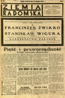 Ziemia Radomska, 1932, R. 5, nr 214