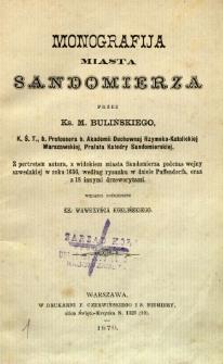 Monografija miasta Sandomierza