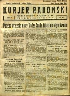 Kurier Radomski, 1940, R. 2, nr 15