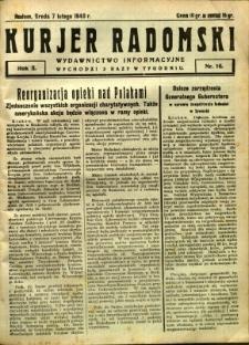 Kurier Radomski, 1940, R. 2, nr 16