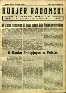 Kurier Radomski, 1940, R. 2, nr 17