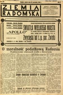 Ziemia Radomska, 1932, R. 5, nr 218