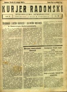 Kurier Radomski, 1940, R. 2, nr 19