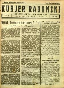 Kurier Radomski, 1940, R. 2, nr 20