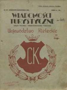 Wiadomości turystyczne. Organ polskiej i wszechświatowej turystyki : Wojewóztwo kieleckie, 1931, nr 6/7