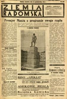 Ziemia Radomska, 1932, R. 5, nr 244