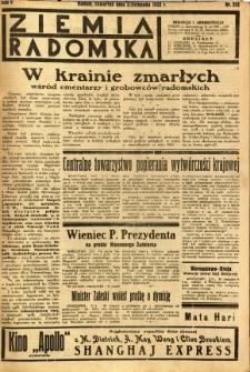 Ziemia Radomska, 1932, R. 5, nr 252