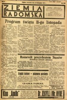 Ziemia Radomska, 1932, R. 5, nr 258