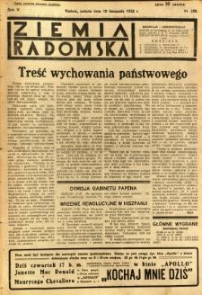 Ziemia Radomska, 1932, R. 5, nr 266