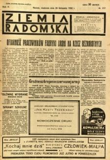Ziemia Radomska, 1932, R. 5, nr 267